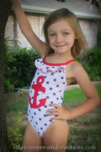 Cole's Corner and Creations: Anchor swimsuit makeover