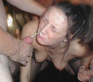 shot a load of jizz all over her face and tried to dodge the cumshot