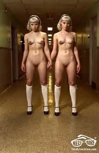 Sexy Nude Twins in 'Shining' Calendar Shot, Horror Movie Entertainment