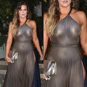Khloe Kardashian in seethrough topless boobs  STAR PRIVATE