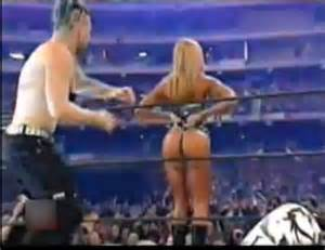 Stacy Keibler Ass Spanked WWE video  Wrestling Bloopers Videos