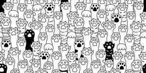 Des, Netten, Kleinen, Nahtloses, Muster, Katzen-vektors, Des, Gekritzels, Stock, Abbildung