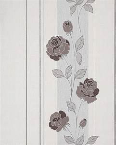 Tapete Grau Braun : blumen tapete landhaus edem 766 30 deluxe floral streifen ~ A.2002-acura-tl-radio.info Haus und Dekorationen
