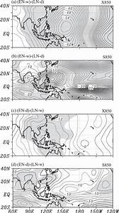 As In Fig  4  But For Composite Difference Anomalies Of 850