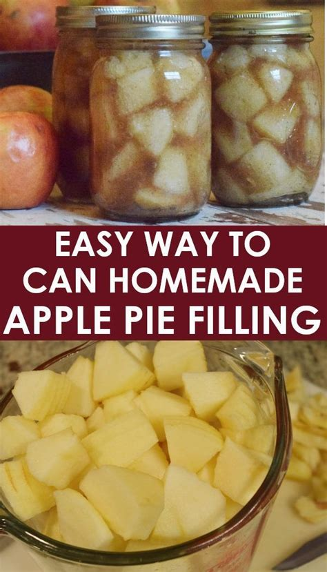 This apple filling is the same filling that i used for my cinnamon apple pie and my apple. Easy Way To Can Homemade Apple Pie Filling | Apple pies filling, Homemade apple pie filling ...