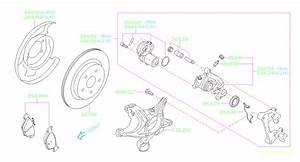 2017 Subaru Legacy Disc Brake Caliper  Right  Rear   Brakes - 26692al02a