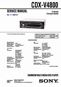 Sony Cdx-v4800 Service Manual