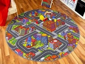 Teppich Für Kinder : kinder spiel teppich stra enteppich 3d big city grau rund ~ A.2002-acura-tl-radio.info Haus und Dekorationen