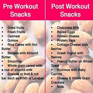 Pre-workout And Post-workout Snacks - Healthy Fitness Tips Trick - Project Next