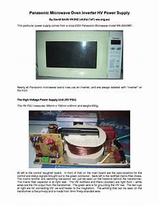Microwave Repair  Panasonic Inverter Microwave Repair Manual