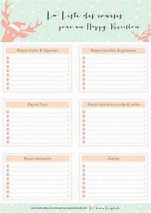 Liste De Courses À Imprimer Gratuitement : liste de courses pour le r veillon de noel imprimer ~ Nature-et-papiers.com Idées de Décoration