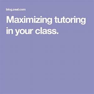 Maximizing Tutoring In Your Class