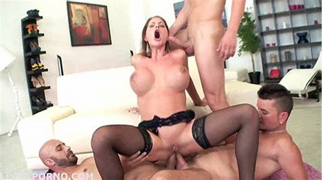 #Busty #Hoe #Takes #Two #Dicks #Inside #Her #Anus