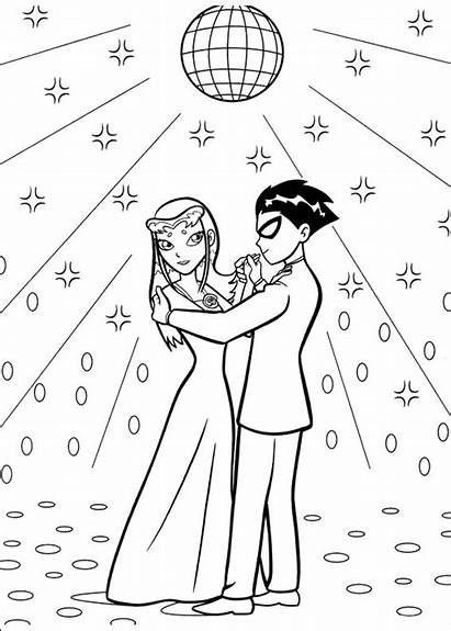 Titans Coloring Teen Pages Printable