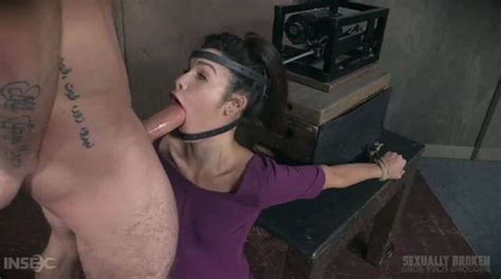 #Machine #Forces #Her #Mouth #Down #On #A #Big #Cock