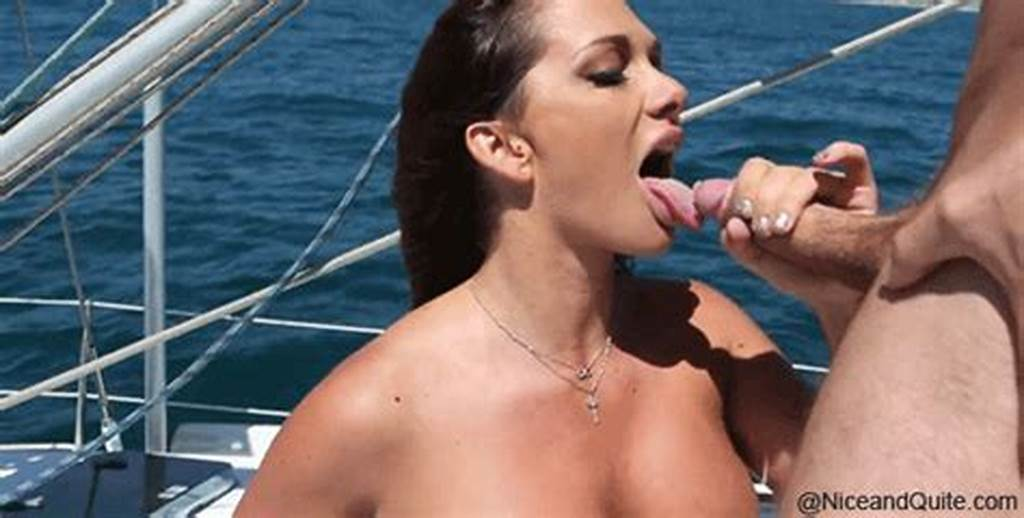 #Blowjob #Hot #Sexy #Brunette #On #A #Boat