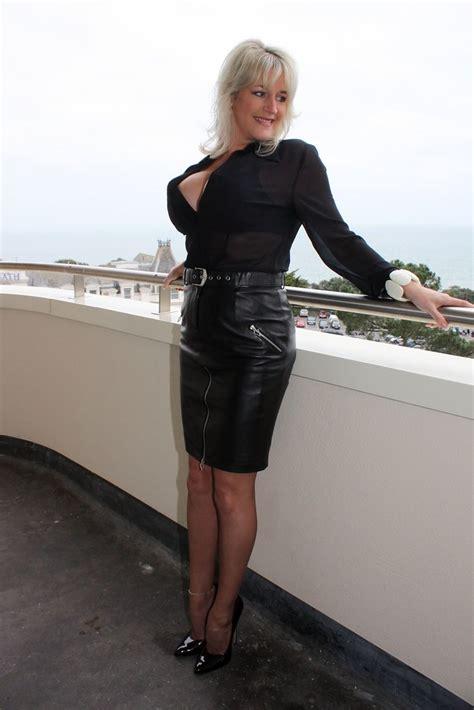hot classy super blonde milf  massive boobs  pvc sk