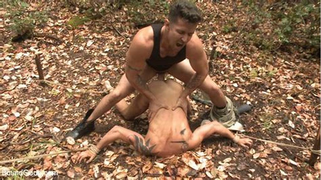 #Hunter #Caught #In #The #Trap #A #Naked #Victim #In #The #Forest