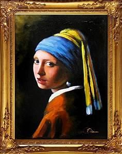 Das Mädchen Mit Dem Perlenohrring Gemälde : jan vermeer das m dchen mit dem perlenohrring gro e meister 47x37cm lgem lde ebay ~ Watch28wear.com Haus und Dekorationen