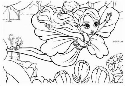 Coloring Teen Pages Fairy Flying Template Templates