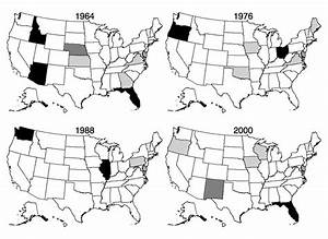 Swing States By Threshold For Selected Presidential