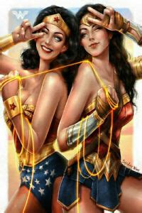Celebrating the week end with a new tribute poster for the eagerly awaited wonder woman1984! Art Poster 312 Wonder Woman Sexy Movie Hot DC Comics 1984 ...