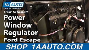 How To Install Replace Front Power Window Regulator Ford
