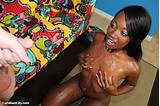 Ebony teen cum shot
