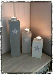 Kerzenständer 3er Set : 3er set kerzenst nder aus massivholz im shabby chic stil ~ Watch28wear.com Haus und Dekorationen