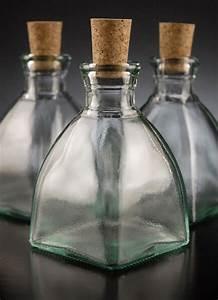 Cork, Top, 4in, Diamond, Shaped, Glass, Bottles, 6, 8oz