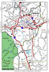 Helpful Travel Map Of Asheville  Stay In The Mountains