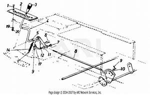 Mtd 136l670f000  1996  Parts Diagram For Speed Control Rod