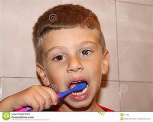 Toddler Brushing Teeth stock photo. Image of toothpaste ...