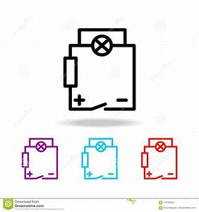 Electrical Circuit Icon  Elements Of Electricity In Multi