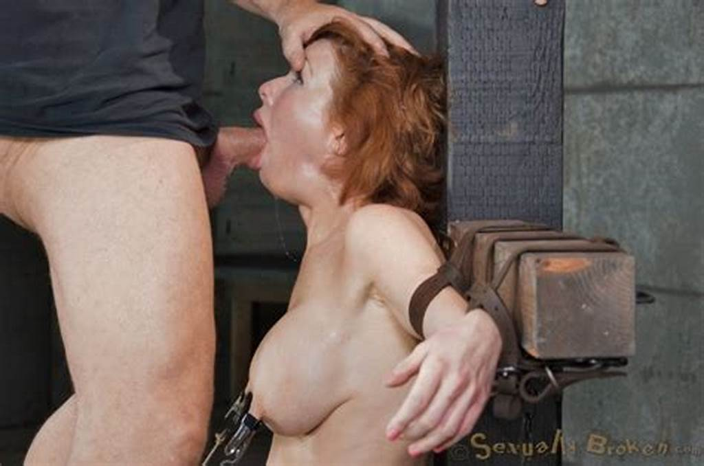 #Veronica #Avluv #Big #Tits #Redhead #Is #Bound #In #Dungeon #To #Sex #Machine #Made #To #Suck