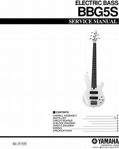 Yamaha Bbg5s Bbg Bbg5 Bb-g5s Bb Service Manual