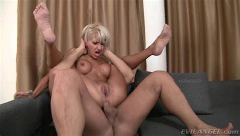 Swedish Mommy Analfucked By Coloured Dicks Fully Nelson Nailed Strap