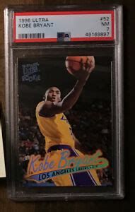 Many common kobe rookie cards can still be had in raw form for under $25 but there are many that are more valuable with the topps chrome and chrome refractor parallels among the most popular. Kobe Bryant 1996 Ultra #52 PSA 7 Rookie Card, Los Angeles ...