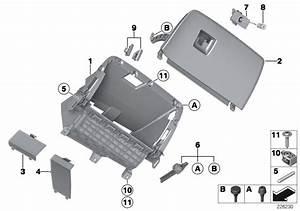 Bmw X3 Glove Box Lid  Schwarz