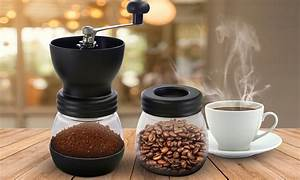 Manual Coffee Grinder With Two Canister Jars