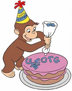 Cake clipart curious george - Pencil and in color cake ...