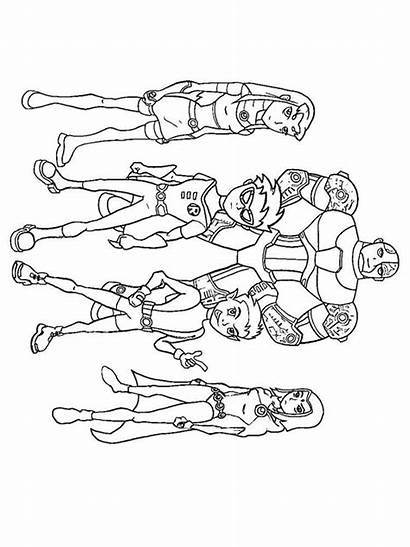 Titans Coloring Teen Pages Printable Cartoon Recommended