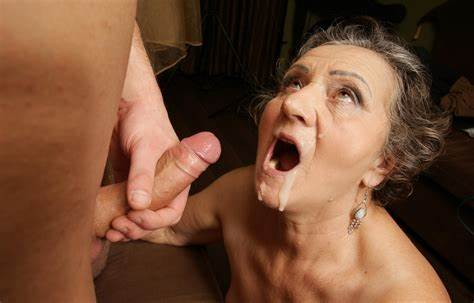 Dirty Granny Does Her Daddy A Oral Jizz On Granny'S Face