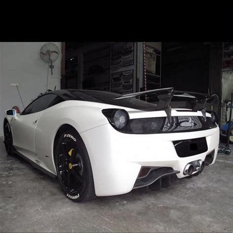 Ferrari 458 wide arch kit spoiler wing. FERRARI 458 REAR CARBON SPOILER.( RSP-775 )