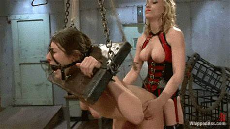 Tied Up Model Cunt Punished By Banged Machine