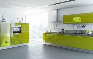 amenagement deco cuisine vert et gris With cuisine gris et vert