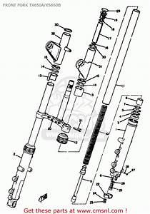 Yamaha Xs650 1975 Usa Front Fork Tx650a  Xs650b