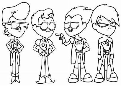 Coloring Teen Titans Pages Teentitans Cartoon