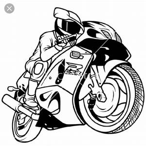 Motorcycle Black And White Clipart | Free download on ...