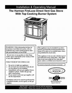Harman Stove Company Fireluxe Direct Vent Gas Stove With